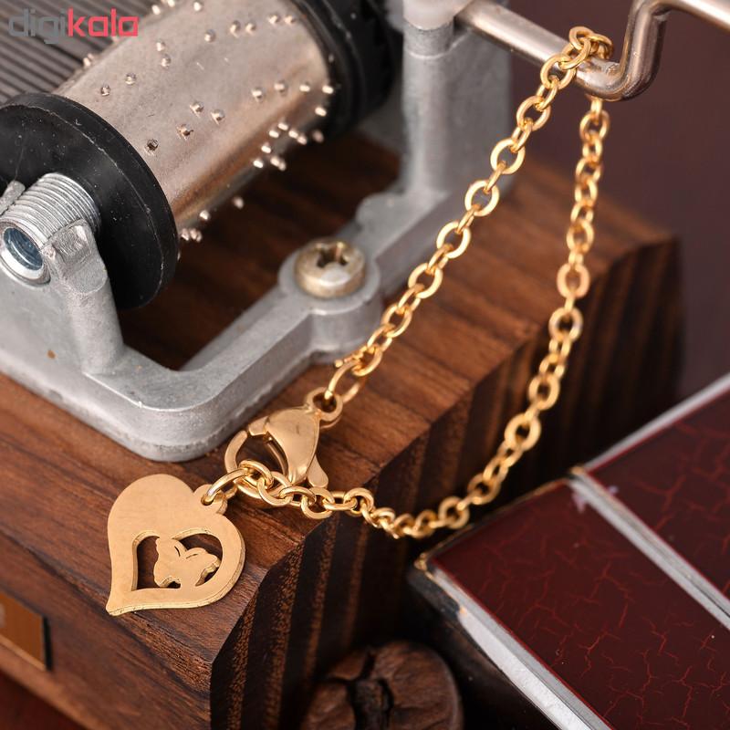 آویز ساعت زنانه طرح قلب کد AS1045