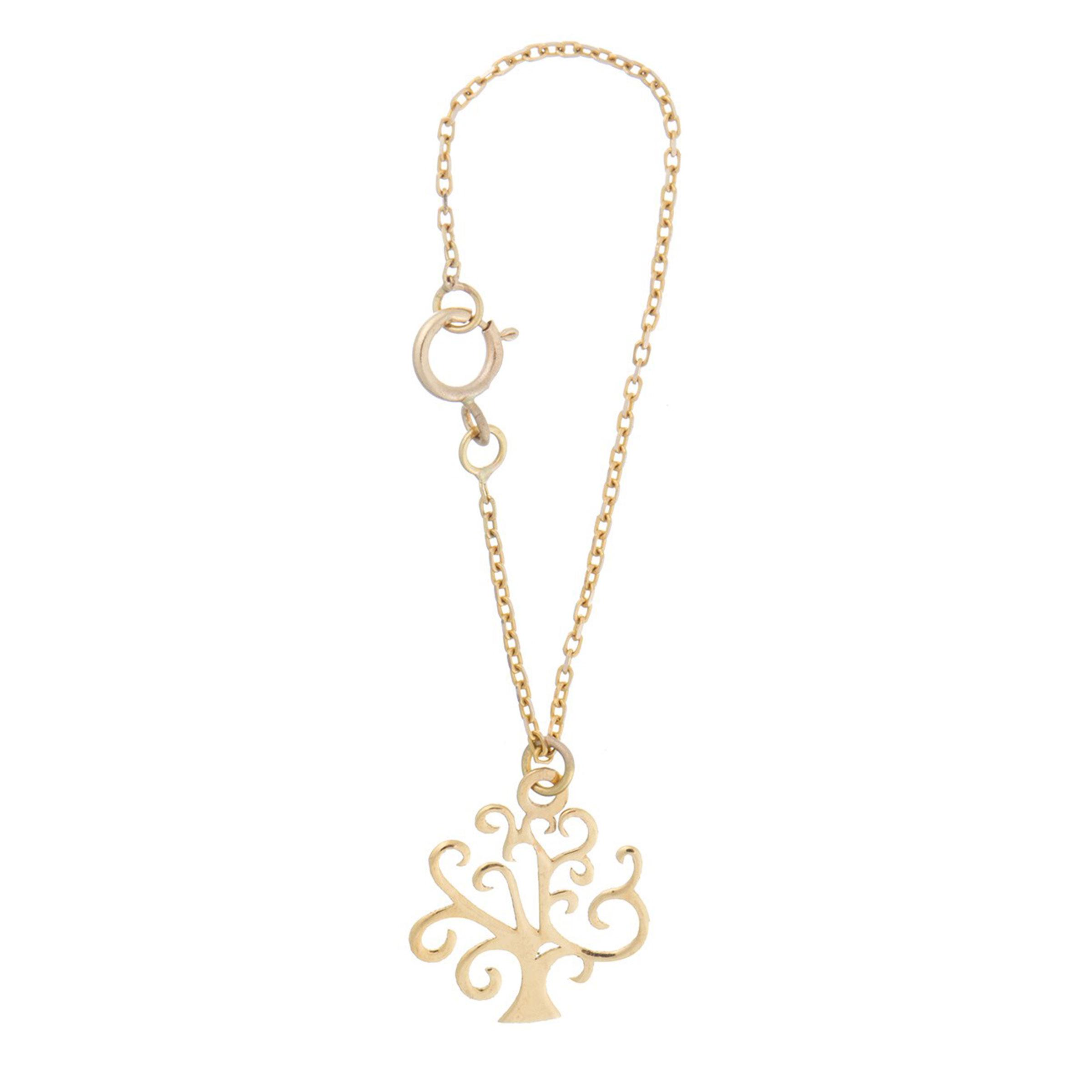 آویز ساعت طلا 18 عیار زنانه طرح درخت کد SG435