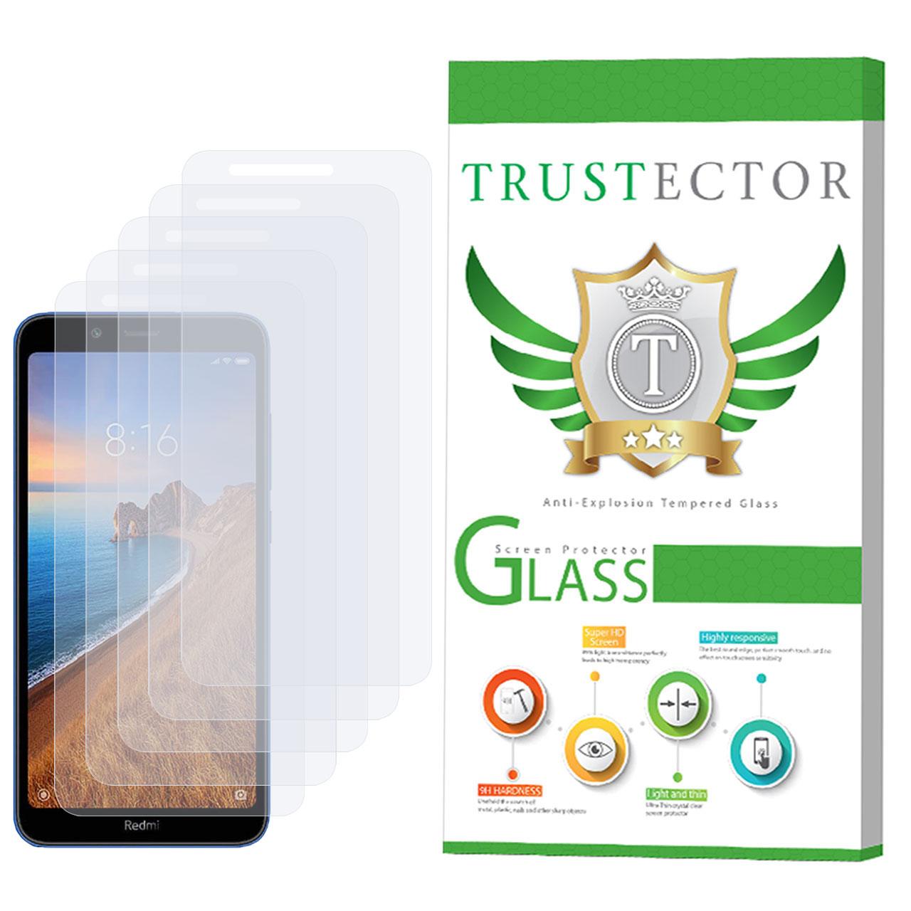 محافظ صفحه نمایش تراستکتور مدل GLS مناسب برای گوشی موبایل شیائومی Redmi 7A بسته 5 عددی