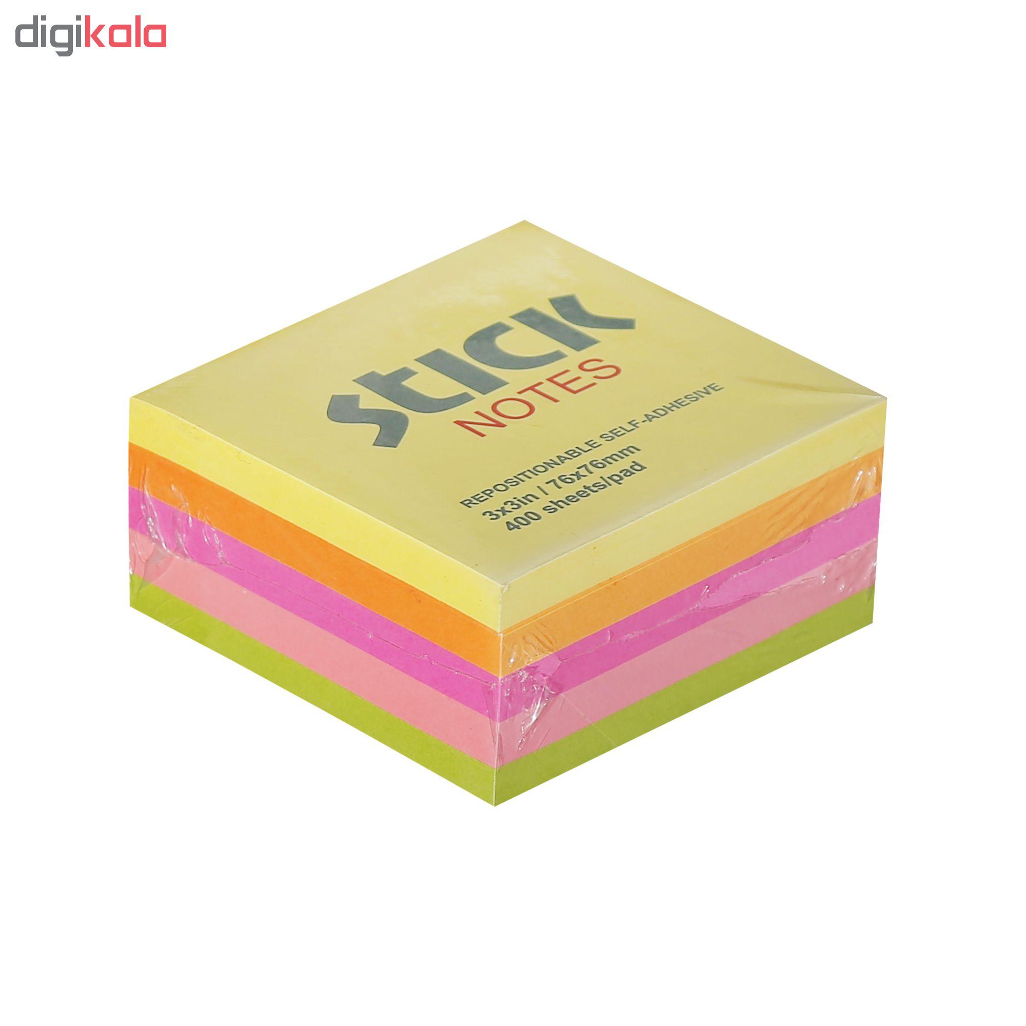 کاغذ یادداشت چسب دار استیک نوت کد 10 بسته سه عددی main 1 2