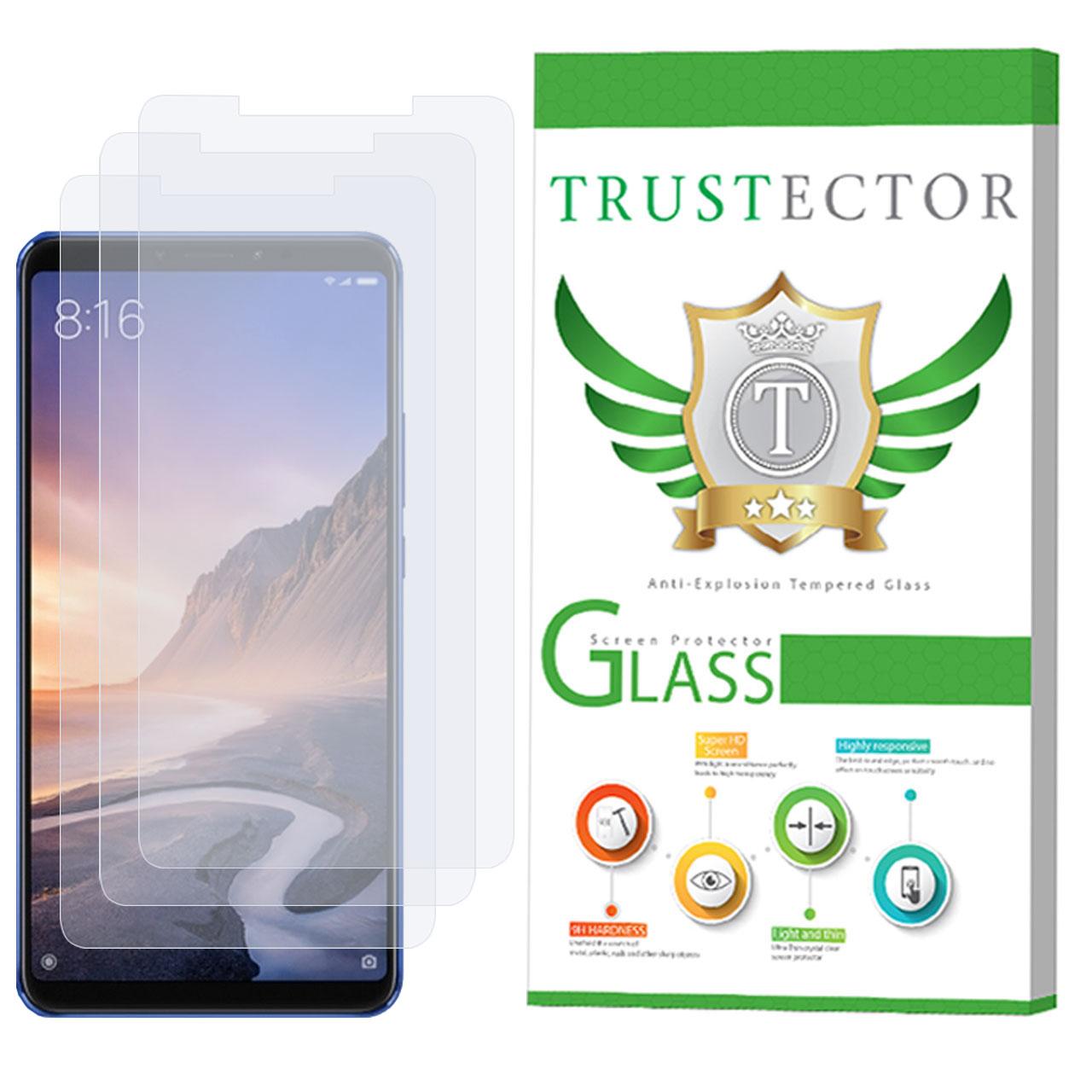 محافظ صفحه نمایش تراستکتور مدل GLS مناسب برای گوشی موبایل شیائومی Mi Max 3 بسته 3 عددی
