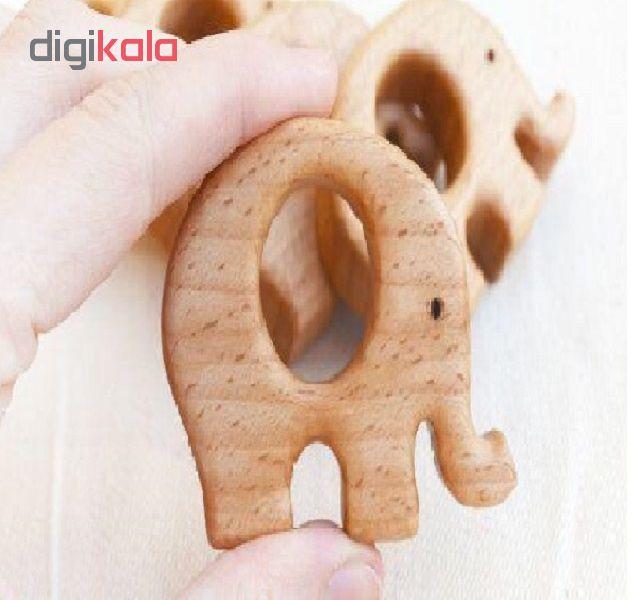 خرید                      اسباب بازی چوبی طرح فیل مدل e1