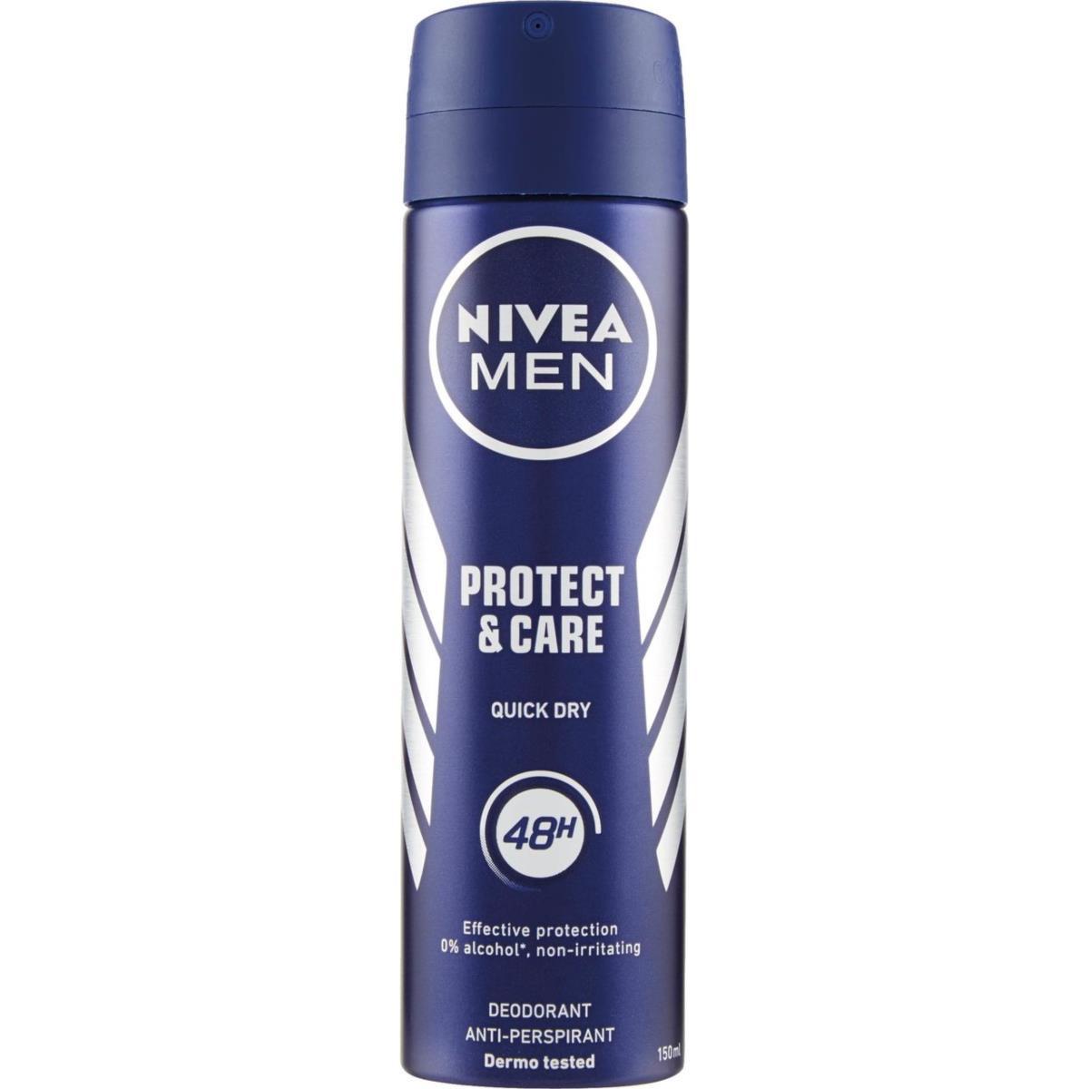اسپری مردانه نیوآ مدل Protect & Care حجم 150 میلی لیتر