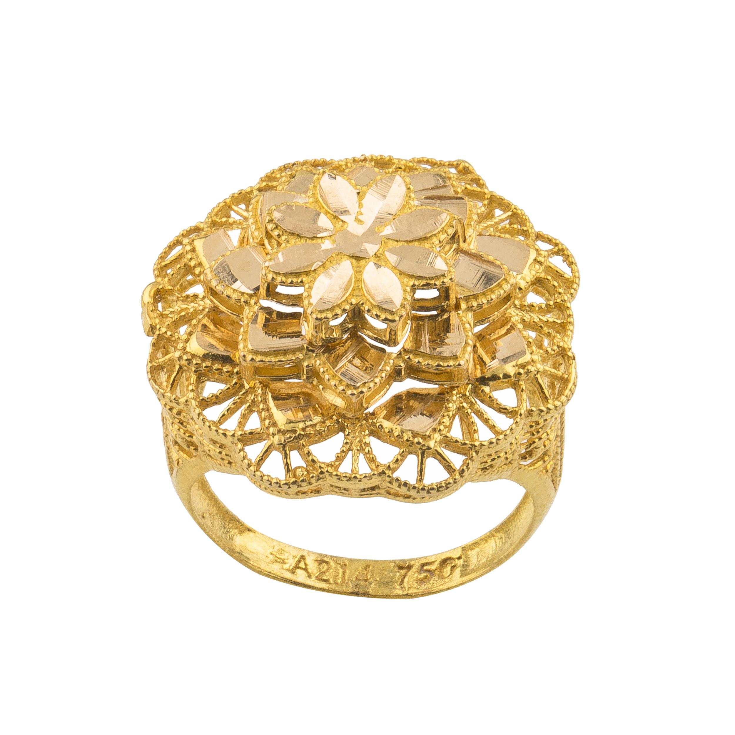 انگشتر طلا 18 عیار زنانه کد R165