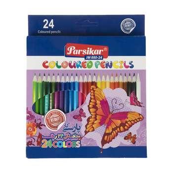 مداد رنگی 24 رنگ پارسیکار مدل JM 880-24-2 A14