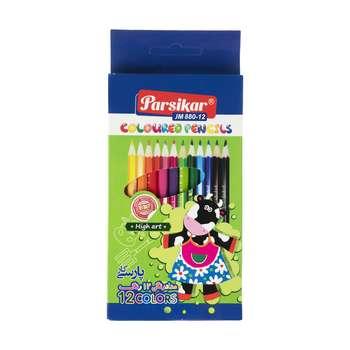 مداد رنگی 12 رنگ پارسیکار مدل JM 880-12-1 A15