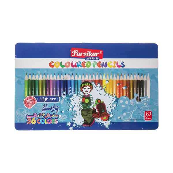 مداد رنگی 36 رنگ پارسیکار مدل JM 890-36