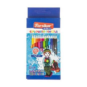 مداد رنگی 12 رنگ پارسیکار مدل JM 880-12