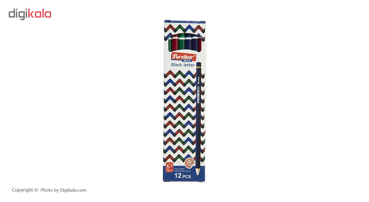 مداد مشکی پارسیکار مدل JM414 بسته 12 عددی