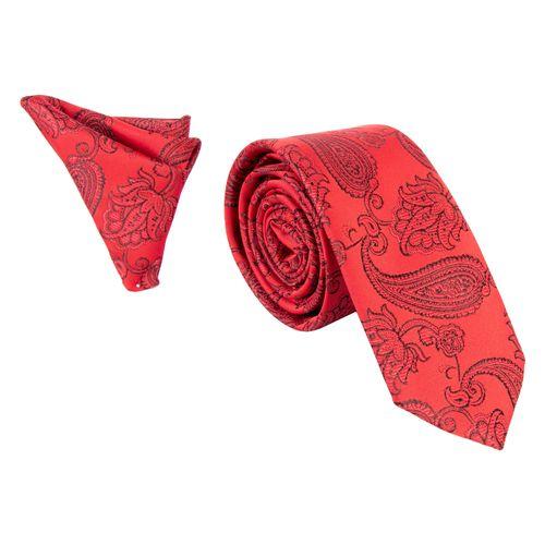 ست کراوات و دستمال جیب مردانه کد 2093