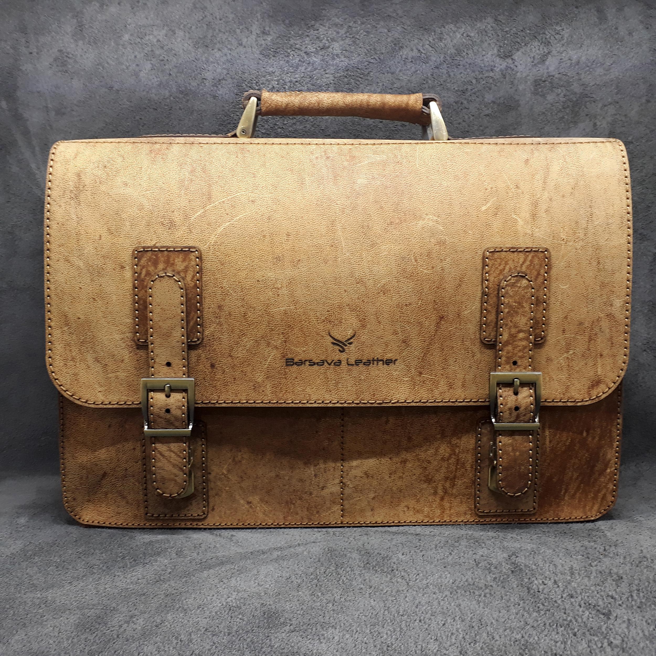 کیف اداری مردانه چرم بارثاوا مدل 1106a