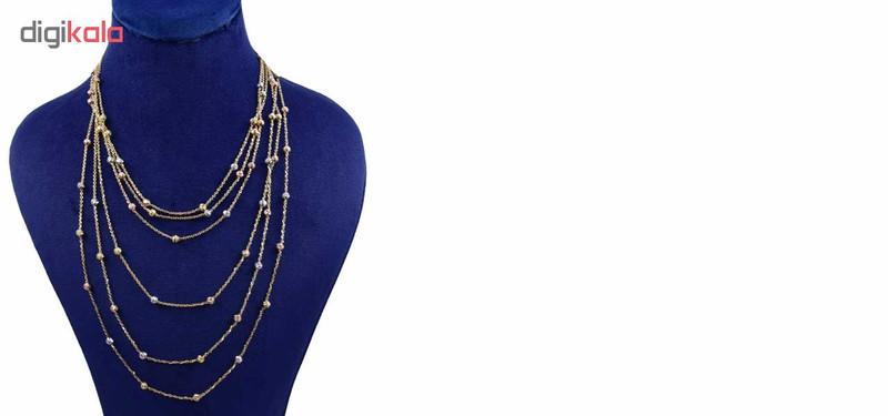 گردنبند طلا 18 عیار زنانه کانیار گالری طرح گوی کد GR1