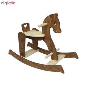 راکر کودک چوبین هنر طرح اسب کد 2430