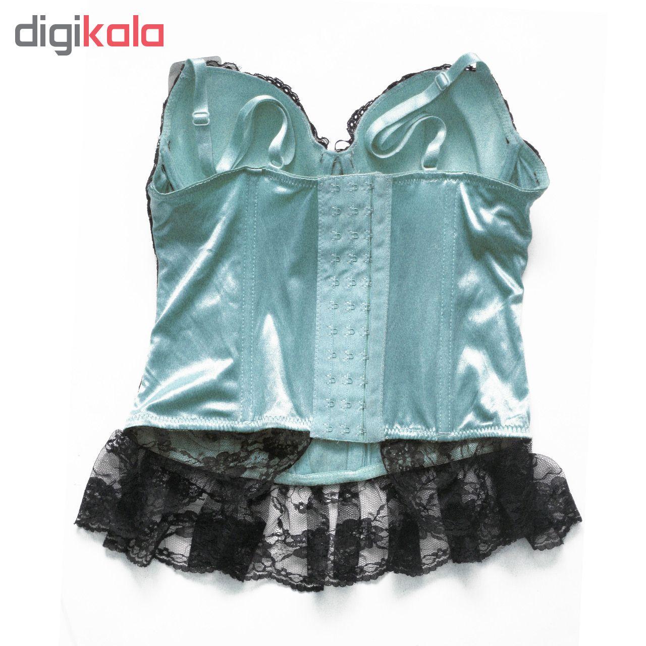 لباس خواب زنانه مدل الیزابت رنگ آبی