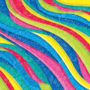 کاغذ کادو طرح رنگین کمان بسته 5 عددی