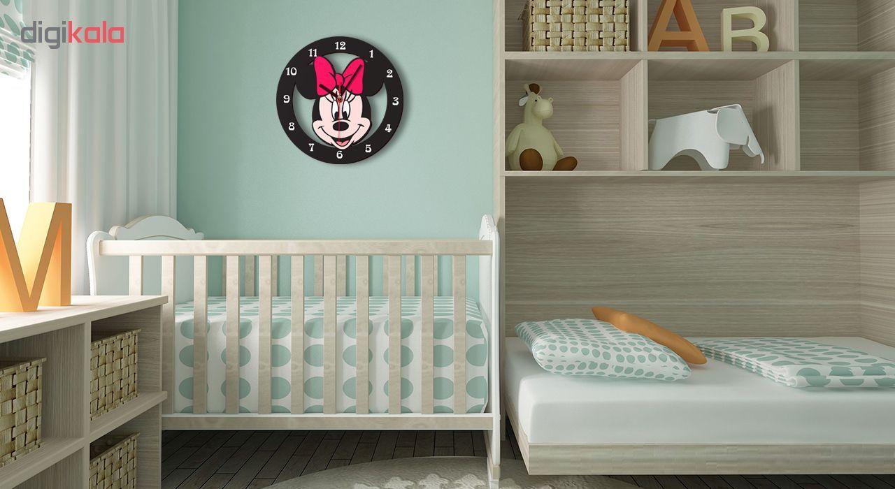 ساعت دیواری کودک ژیوار طرح  Minnie mouse main 1 1