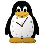 ساعت دیواری کودک ژیوار طرح  پنگوئن thumb