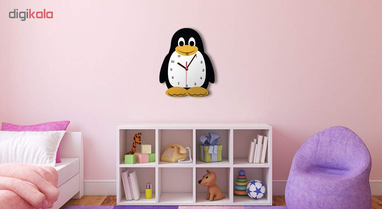 ساعت دیواری کودک ژیوار طرح  پنگوئن main 1 1
