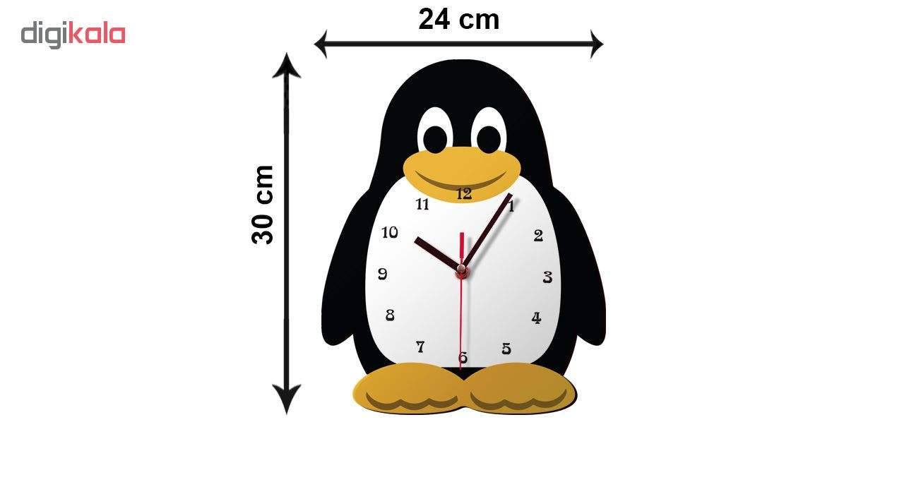 ساعت دیواری کودک ژیوار طرح  پنگوئن main 1 2