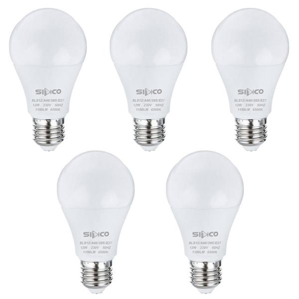 لامپ 12 وات سیدکو مدل SLS12 پایه E27 بسته 5 عددی
