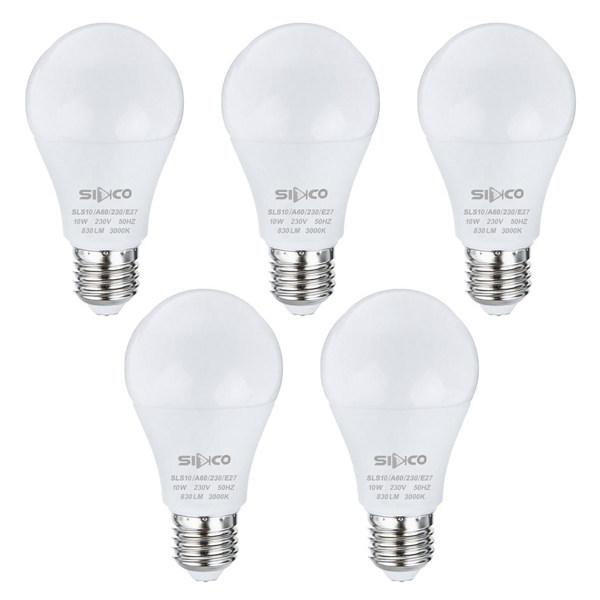 لامپ 10 وات سیدکو مدل SLS10 پایه E27 بسته 5 عددی