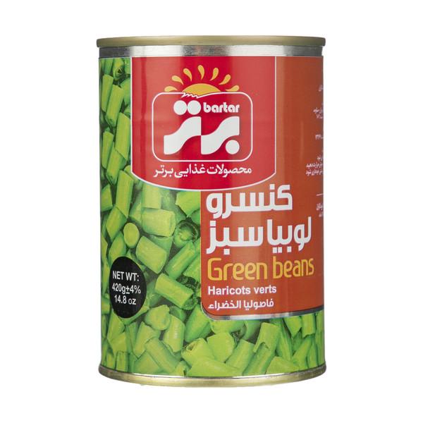 کنسرو لوبیا سبز برتر مقدار 420 گرم