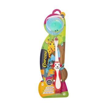 مسواک کانفیدنت مدل Tiny Monkey کد 01 با برس نرم