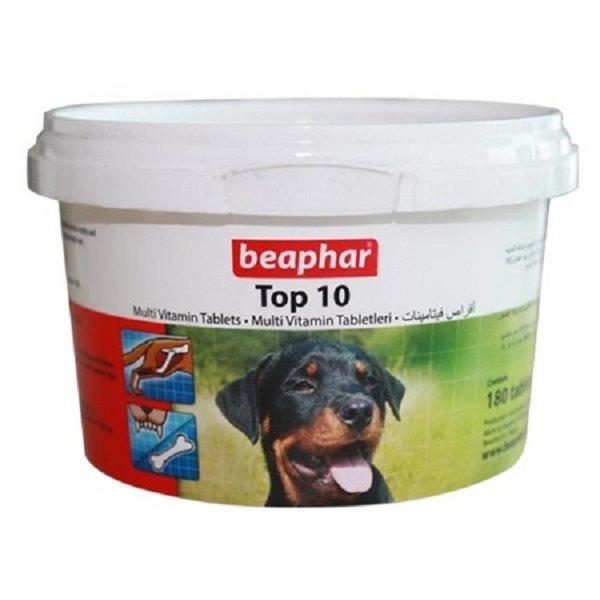 قرص مولتی ویتامین سگ بیفار مدل TOP 10 بسته 180 عددی