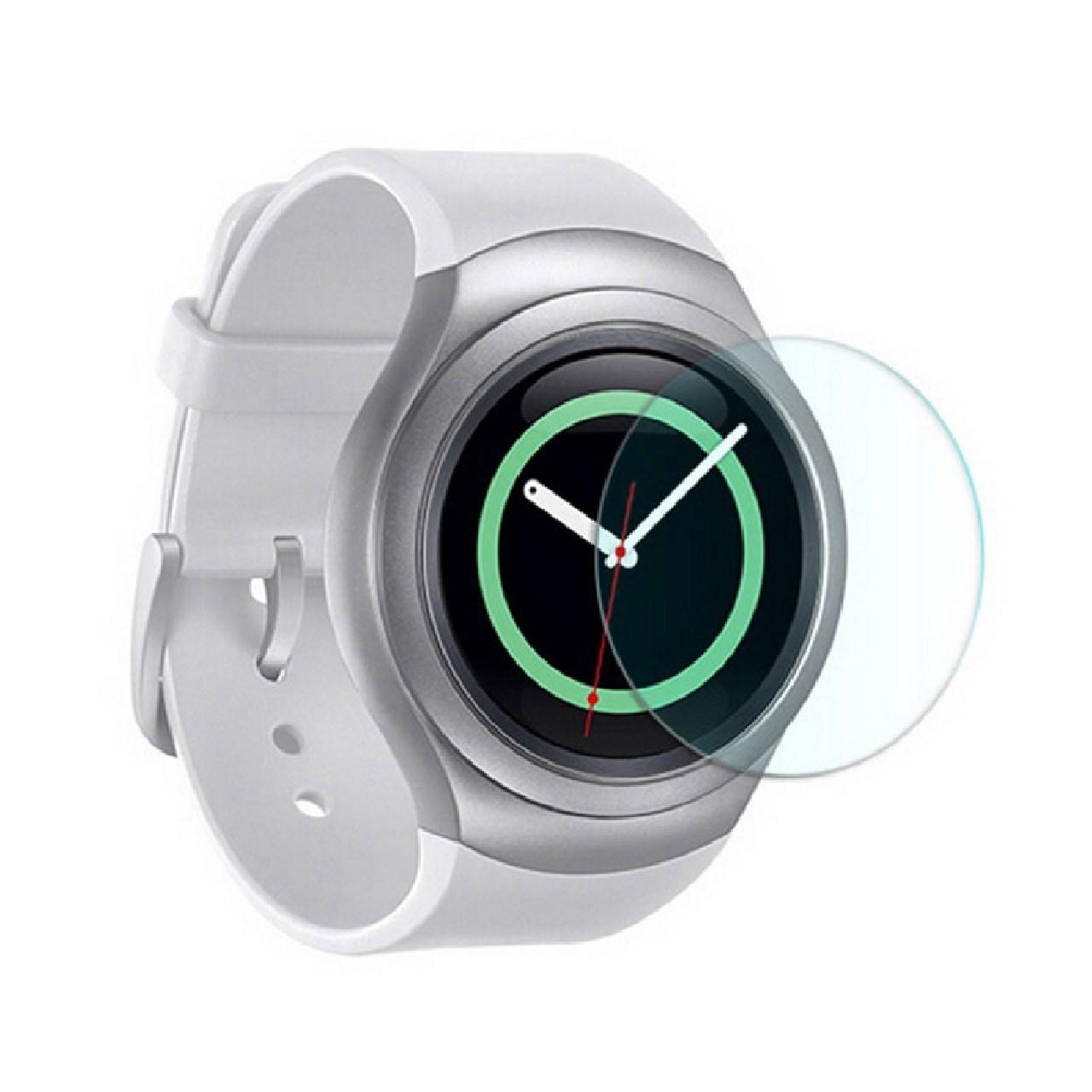 محافظ صفحه نمایش شیشه ای مدل تمپرد مناسب برای ساعت های هوشمند سامسونگ مدل Gear S2 / Gear Sport
