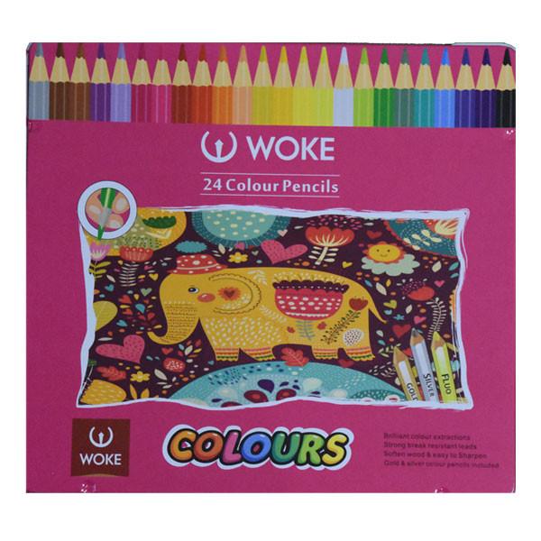 مداد رنگی 24 رنگ ووک طرح فیل کد 314