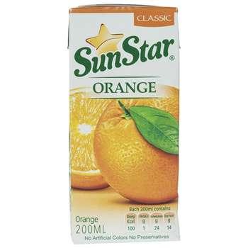 نوشیدنی پرتقال سان استار حجم 0.2 لیتر