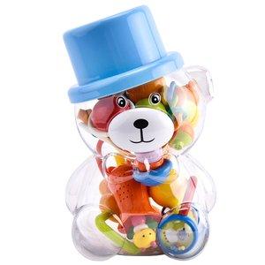 جغجغه کودک مدل خرس کلاه کج بسته 10 عددی