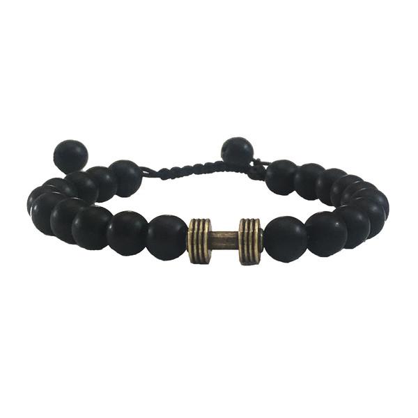 دستبند مردانه طرح دمبل کد 008