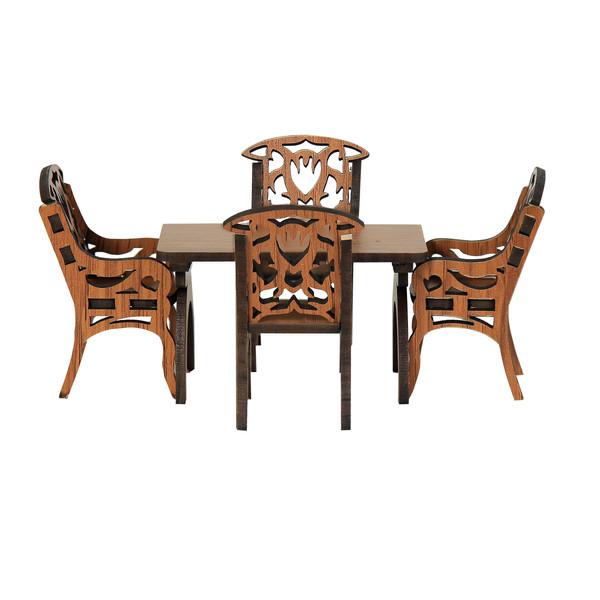 دکوری طرح میز و صندلی ناهار خوری مدل m2