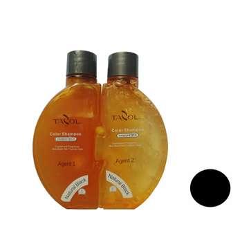 شامپو رنگ مو تزول مدل Osmanthus شماره 1.0 حجم 70 میلی لیتر رنگ مشکی بسته 2 عددی