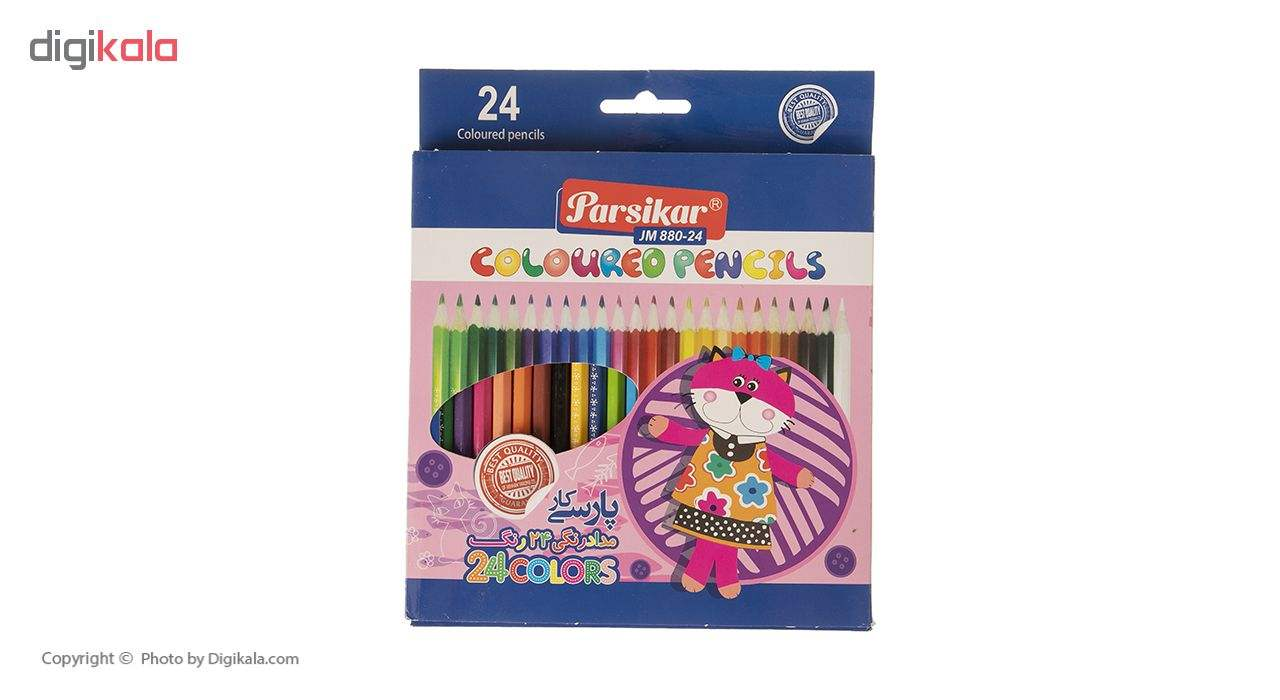 مداد رنگی 24 رنگ پارسیکار مدل JM 880-24-3 main 1 1