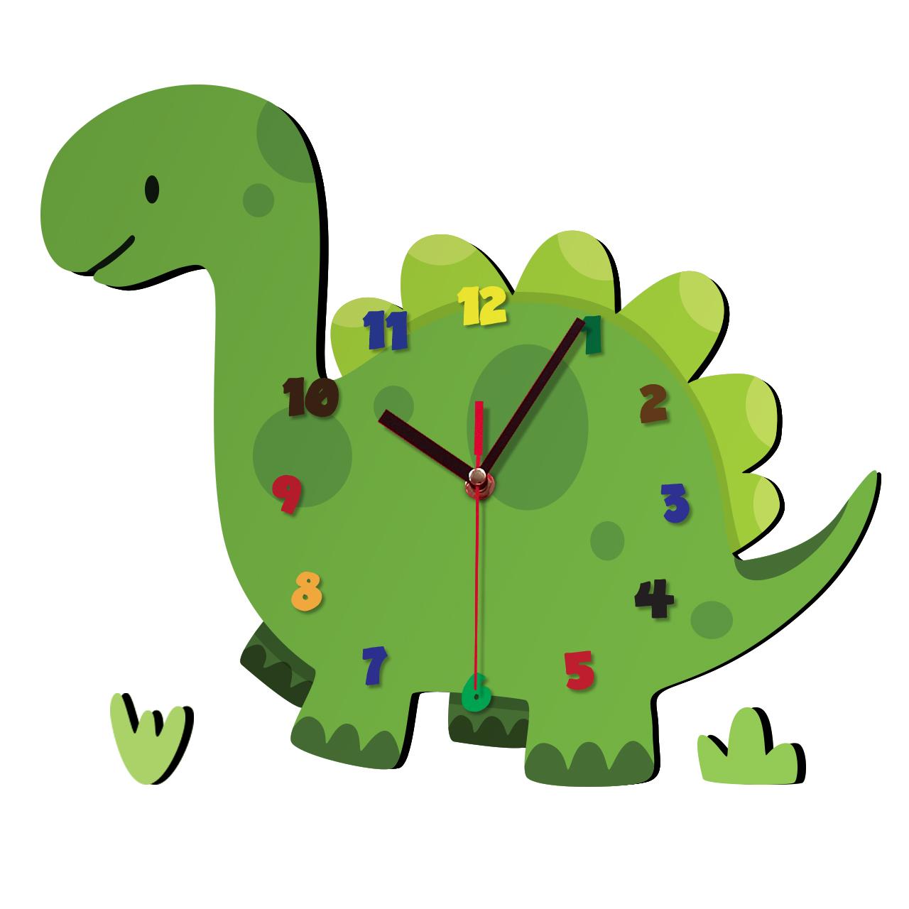 ساعت دیواری کودک ژیوار طرح  دایناسور thumb