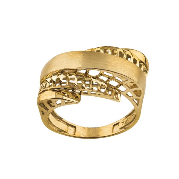 انگشتر طلا 18 عیار زنانه کد R144