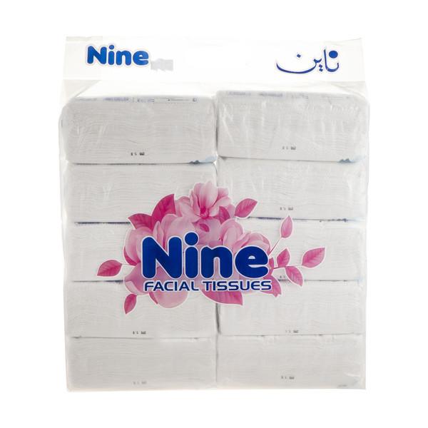 دستمال کاغذی 100 برگ ناین مدل Butterfly بسته 10 عددی