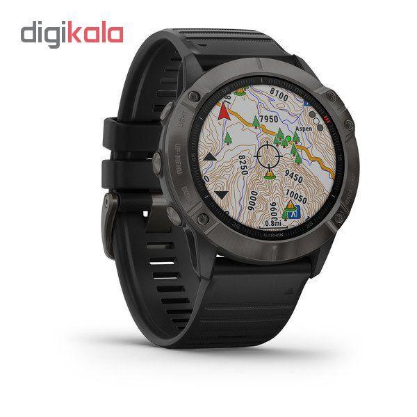 ساعت هوشمند گارمین مدل fenix 6x sapphire main 1 1