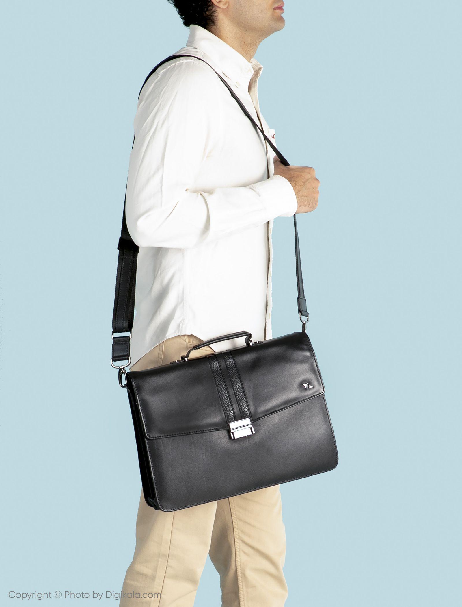 کیف اداری مردانه چرم مشهد مدل A0584-001 -  - 2