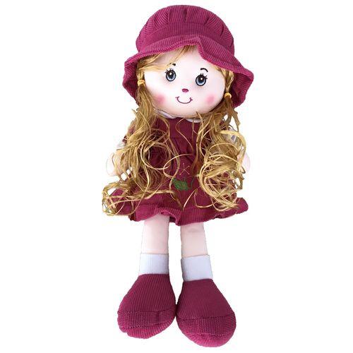 عروسک طرح دختر کلاهدار ارتفاع 30 سانتی متر