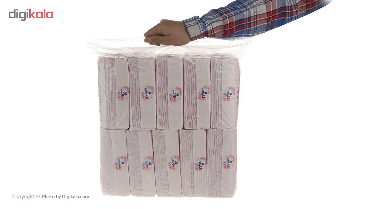 دستمال کاغذی 100 برگ ایزی پیک مدل Flower بسته 10 عددی main 1 4