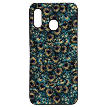 کاور طرح طاووس کد 1105410943140 مناسب برای گوشی موبایل سامسونگ galaxy m30