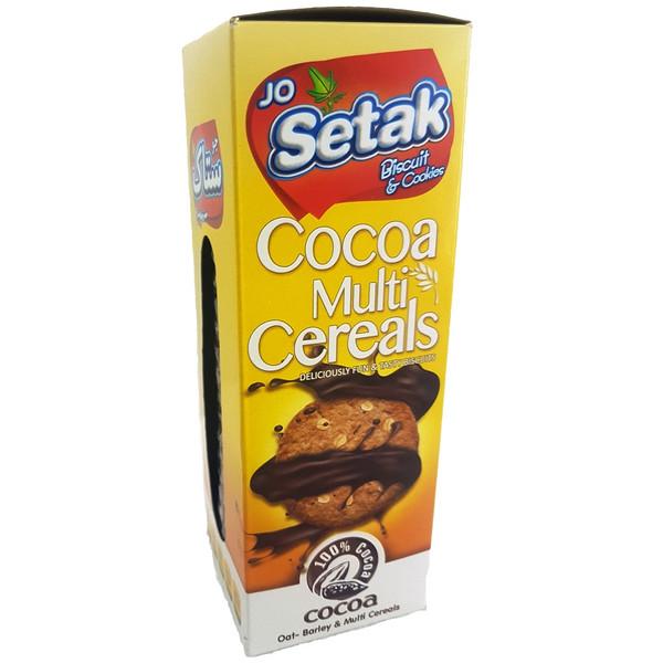 بیسکویت کاکائویی سبوس دار چند غله ستاک مقدار 350 گرم