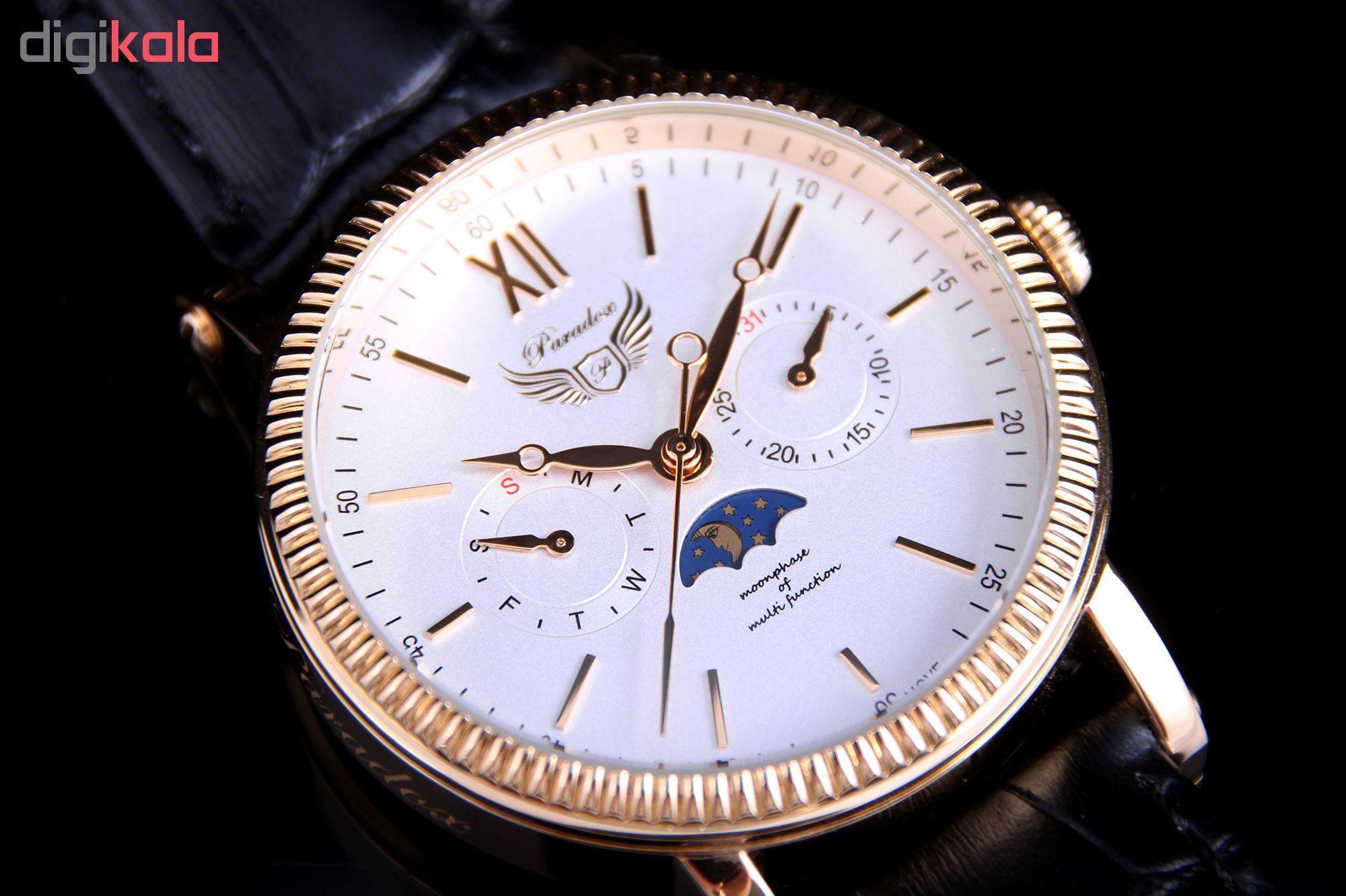 ساعت مچی عقربه ای مردانه پارادوکس مدل SN-PX1003M-WG