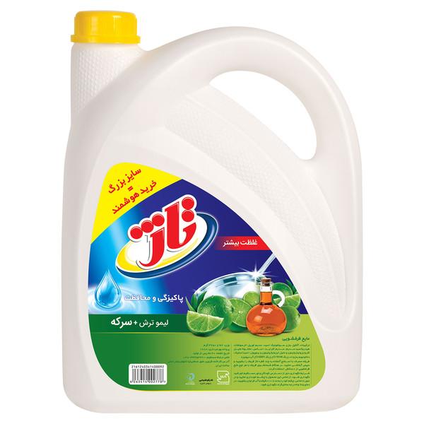 مایع ظرفشویی تاژ مدل Lemon and  Vinegar حجم 3.75 لیتر