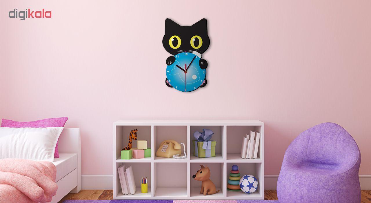 ساعت دیواری کودک ژیوار طرح گربه کوچولو main 1 1