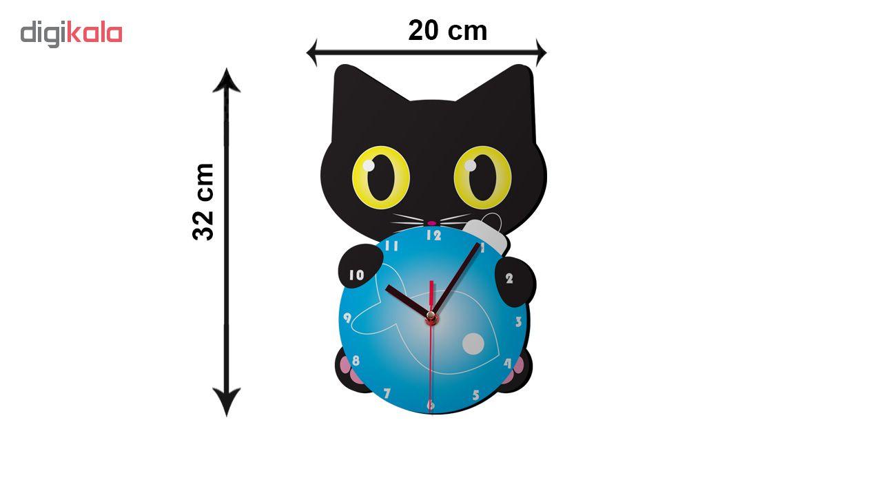 ساعت دیواری کودک ژیوار طرح گربه کوچولو main 1 2