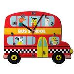 ساعت دیواری کودک ژیوار طرح  اتوبوس مدرسه thumb